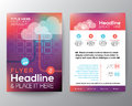 Abstract brochure flyer design layout vector template in a size Royalty Free Stock Photos