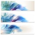 Abstract brochures set in floral style vector of blue backgrounds for design Royalty Free Stock Photography