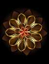 Abstract Brown Flower