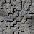 Abstract brown stony cubes Royalty Free Stock Photo