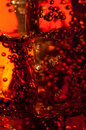Abstract of bubles on ice in a soft drink Royalty Free Stock Photo