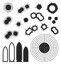 Abstract Bullet holes. Bullet. Target. Icon. Royalty Free Stock Photo