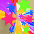 Abstract Bursting Stars Background Royalty Free Stock Photo
