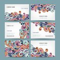 Abstract business cards collection for your design this is file of eps format Royalty Free Stock Photos