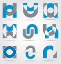 Abstract business icon collection for creative design Stock Photography