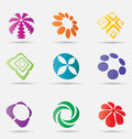 Abstract business icon collection originally designed Royalty Free Stock Photos