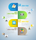 Abstract business infographics options template vector illustration can be used for workflow layout diagram step Royalty Free Stock Photo
