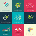 Abstract business and technology icons set Royalty Free Stock Image