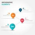 Abstract business timeline raodmap Infographics elements, presentation template flat design vector illustration for web design