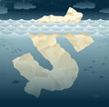 Abstract business tip of the dollar great illustration a themed iceberg shaped as a sign Royalty Free Stock Images