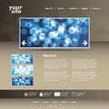 Abstract business website design template vector Royalty Free Stock Photography