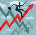 Abstraktné podnikateľ stúpanie odbyt graf