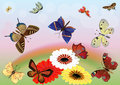 Abstract butterflies Stock Image