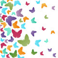 Abstract butterflies background colorful wallpaper Stock Photos