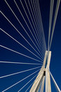 Abstract cable suspension bridge Royalty Free Stock Images