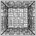Abstract Cage Vector 11 Stock Photo