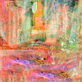 Abstract on canvas image of a mixed media original painting Royalty Free Stock Image