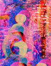 Abstract on canvas nice figure original painting Stock Photos