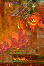 Abstract on canvas nice image of an original oil painting Stock Images
