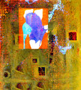 Abstract on canvas nice image of a original painting Royalty Free Stock Images