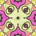 Abstract  cartoon kaleidoscope