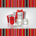 Abstract celebration background with christmas gif gifts and decorations Stock Image