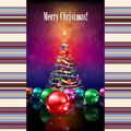 Abstract celebration background with christmas tre tree and decorations Royalty Free Stock Photography