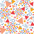 Abstract celebration seamless pattern background vector with hand drawn elements Royalty Free Stock Images