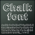 Abstract chalk font