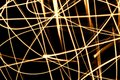 Abstract chaos fire rays Royalty Free Stock Photo