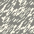 Abstract Chaotic Line Background. Seamless Rain Pattern Royalty Free Stock Photo