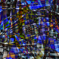 Abstract chaotic pattern colorful translucent curved lines Royalty Free Stock Photos