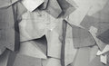 Abstract chaotic polygonal fragments on gray concrete wall background d illustration Royalty Free Stock Images