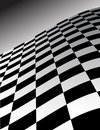 Abstract Checker Wave Background Stock Photography