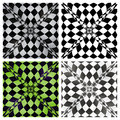 Abstract checkered background set vector illustration Royalty Free Stock Image