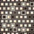 Abstract checkered geometric seamless texture beige tiles square background Stock Photo