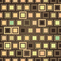 Abstract checkered geometric seamless texture beige tiles square background Royalty Free Stock Photo