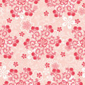 Abstract cherry blossoms pattern Royalty Free Stock Photo