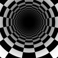 Abstract chess tunnel background with perspective effect Royalty Free Stock Photo