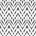 Abstract chevron background. Ikat seamless pattern.
