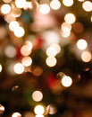 Abstract Chirstmas lights Stock Photography