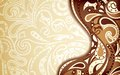 Abstract chocolate curve background illustration of Royalty Free Stock Photography
