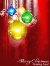 Abstract christmas background with christmasball Royalty Free Stock Photo
