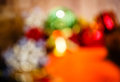 Abstract christmas background colorful in defocus shot closeup Stock Photo