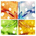 Abstract christmas background colorful snowflake collage blurred texture decoration festive ornament winter holiday Royalty Free Stock Photography