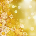 Abstract Christmas background of gold bokeh. EPS 8 Royalty Free Stock Image