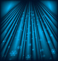 Abstract christmas background snow and stars are falling on the of blue luminous Royalty Free Stock Photos
