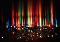 Abstract christmas background, xmas texture from color lights for Christmas tree. Royalty Free Stock Photo