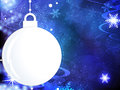 Abstract Christmas blue background Stock Photo