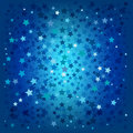 Abstract christmas blue stars background Stock Photos